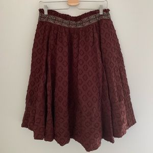 Anthropologie Mauve Embroidered Skirt✨